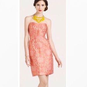 NWT Kate Spade Strapless Faye Dress Guava Sz. 2
